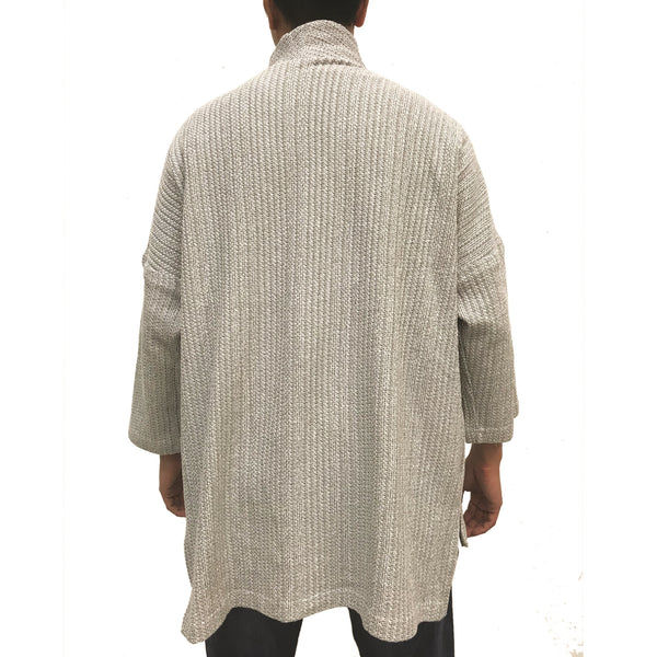 'Ka Lok' Lama Jacket, Light Grey Knit