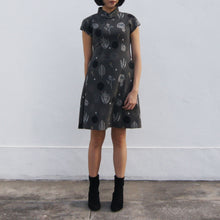 Load image into Gallery viewer, 'Yung Chung' Jacquard Qipao dress, Grey Forest