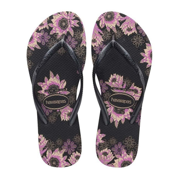 Havaianas Slim Organic, Black Dark Grey Rose Gold