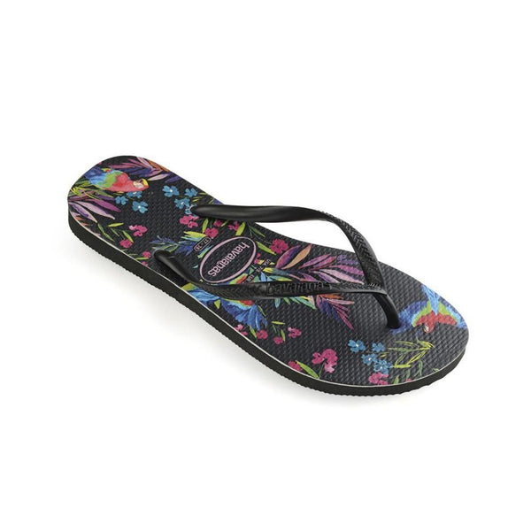 Havaianas Slim Tropical, Black