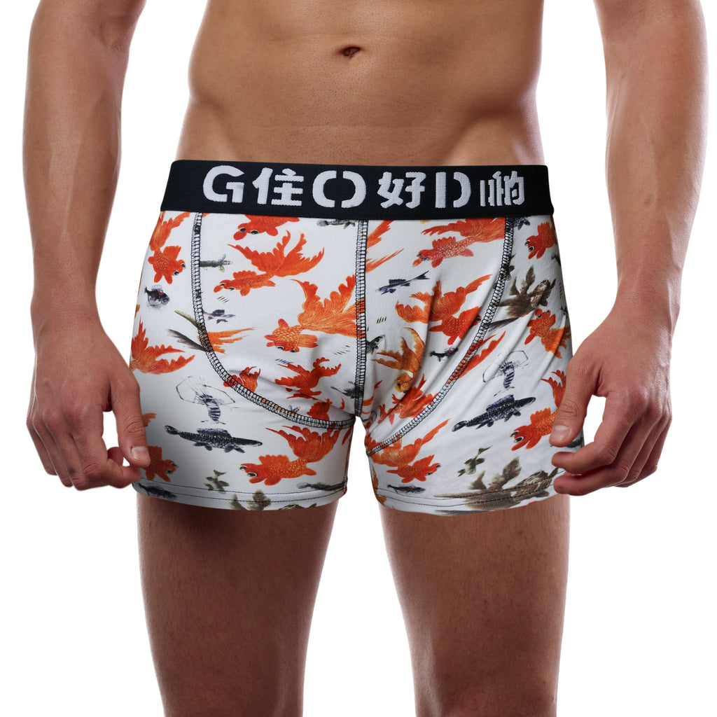'Goldfish' boxer brief (orange/white)