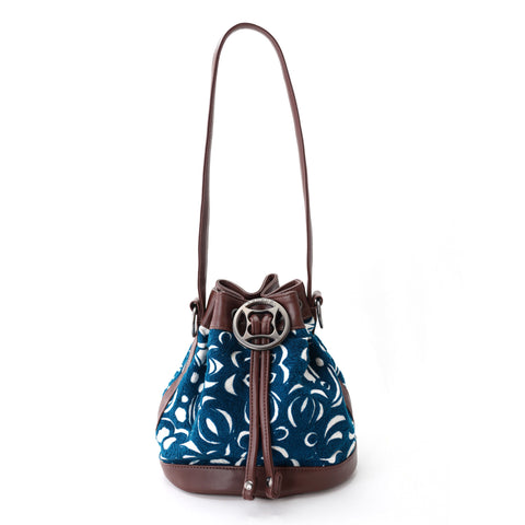Khat bucket bag-blue