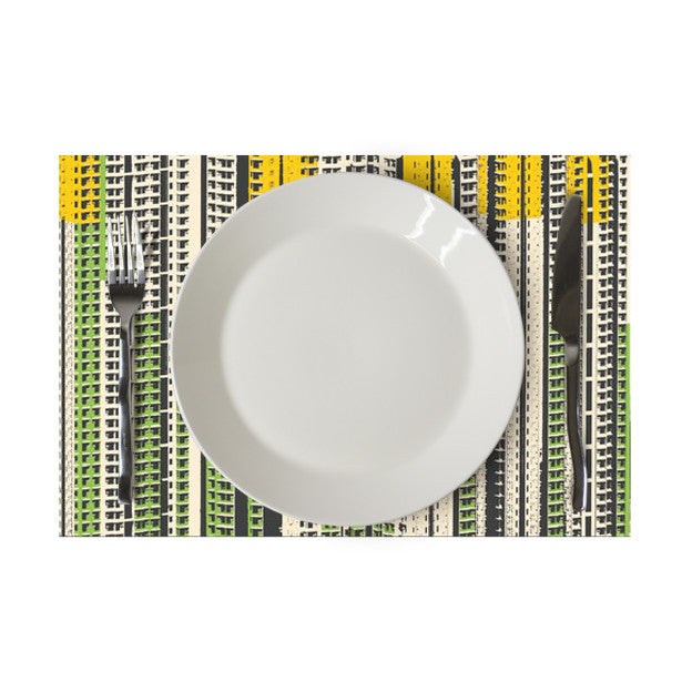 'Hong Kong cityscapes' placemat (green/yellow/white)