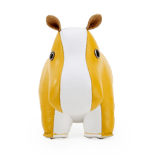 Load image into Gallery viewer, Zuny Paperweight Hippo, Ochre Yellow + White