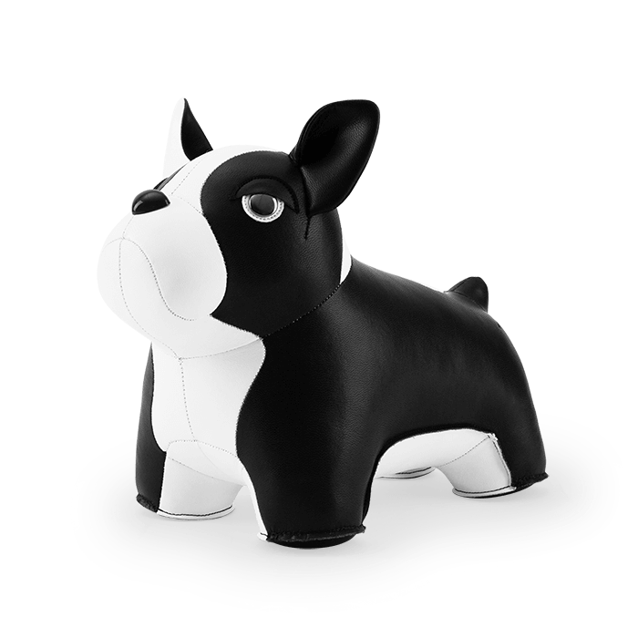 Zuny Classic Bookend French Bulldog II, Black+White
