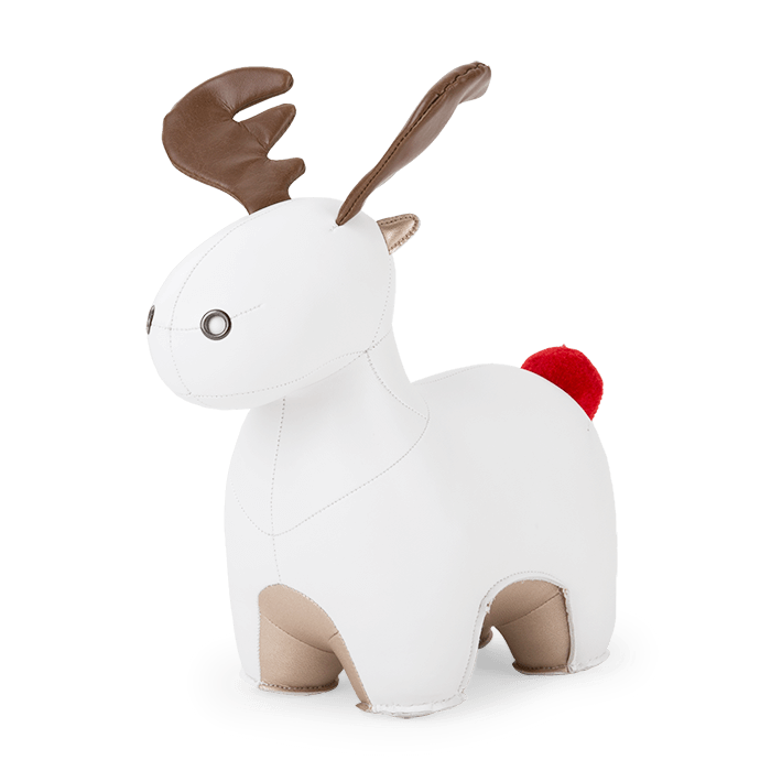 Zuny Bookend Moose Rudo, White+Pearl Gold 2020 X'Mas