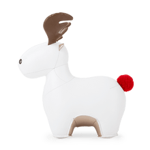 Load image into Gallery viewer, Zuny Bookend Moose Rudo, White+Pearl Gold 2020 X'Mas