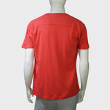 Jersey Chinese knot button tee (red)