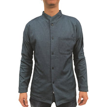 Load image into Gallery viewer, Chinese Stand Collar Shirt, Navy