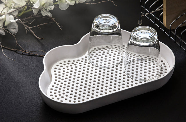 Qualy Drain Cloud Tray / Glass Drainer