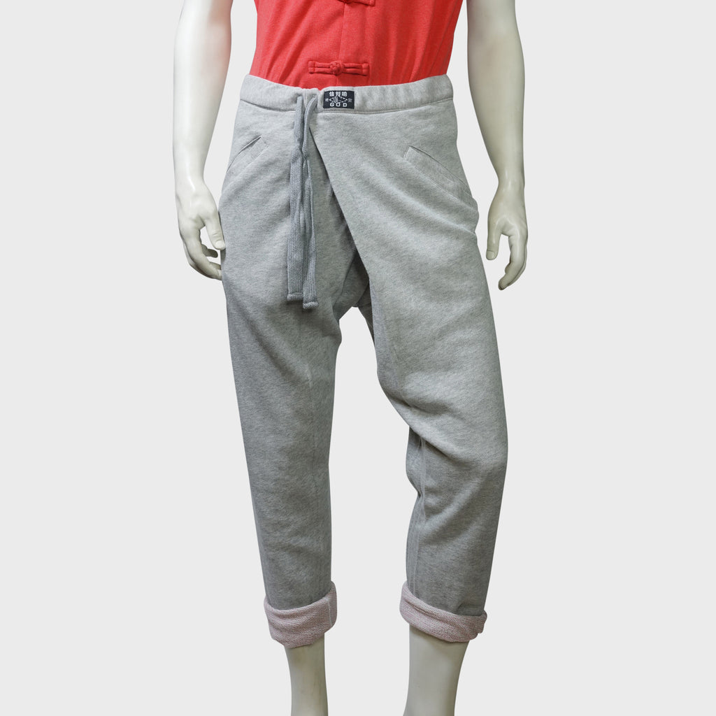 'Pak Foo' roll-up pants (Grey terry) | Goods of Desire