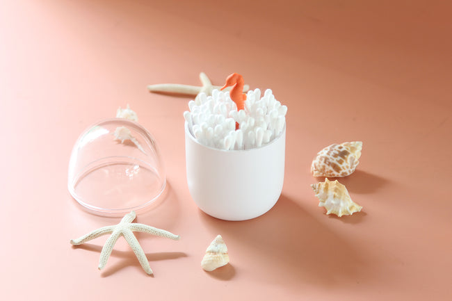 Qualy Seahorse Cotton Bud Holder