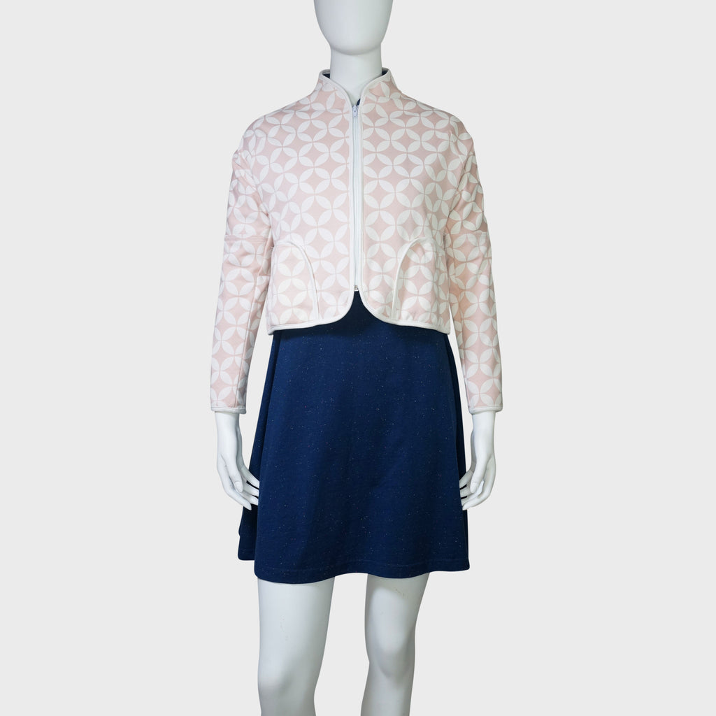 'Double Coins' Cropped Jacket (Light pink) - Goods of Desire