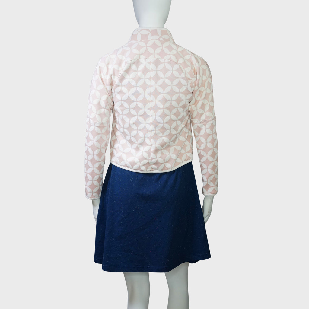 'Double Coins' Cropped Jacket (Light pink), Women, Goods of Desire, Goods of Desire