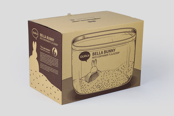 Qualy Bella's Tale Container 7L, Rabbit