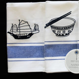 Blue Embroidered Napkins by Zest of Asia