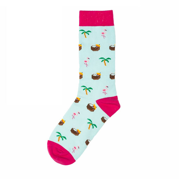 Playful Socks, Beachy Flamingo