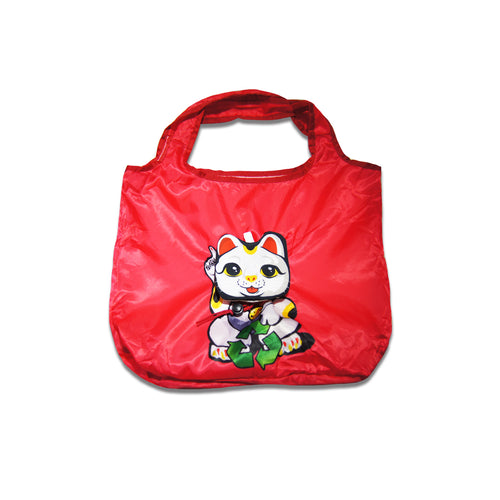 'Lucky Cat' foldable shopping bag