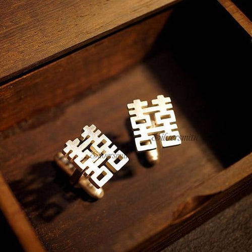 Double Happiness Cufflinks by Silversmith