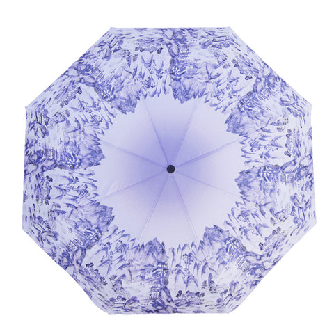 'Blue Arcadia' folding umbrella