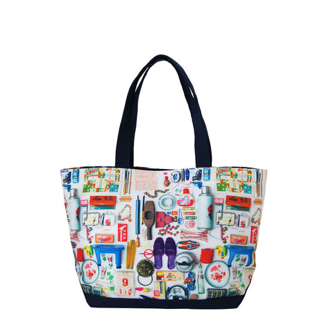 'Paraphernalia' zipped canvas tote bag (small)