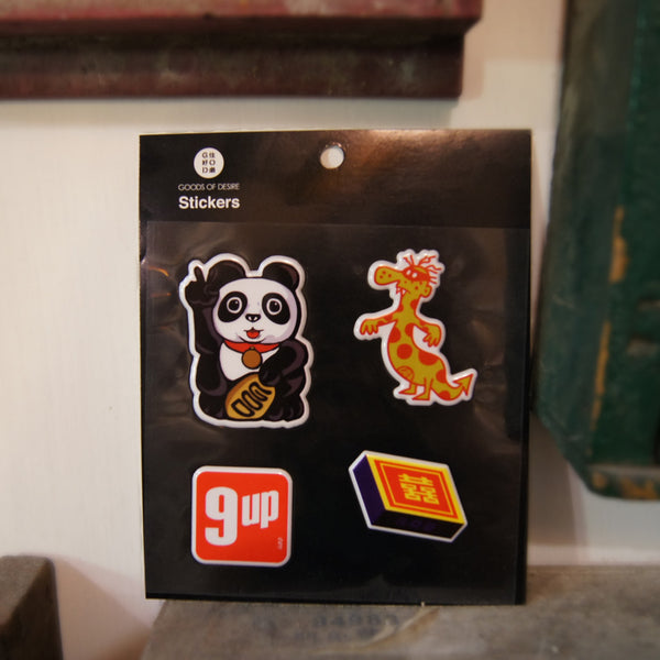 3D Sticker Set B - Panda, 9 up, Matches, Lap Sap Chung