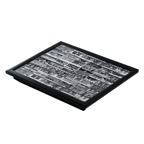 'Yaumati' lap tray (black and white outline)
