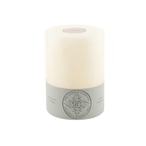 White Michelia 3x4 Pillar Candle by Carroll&Chan