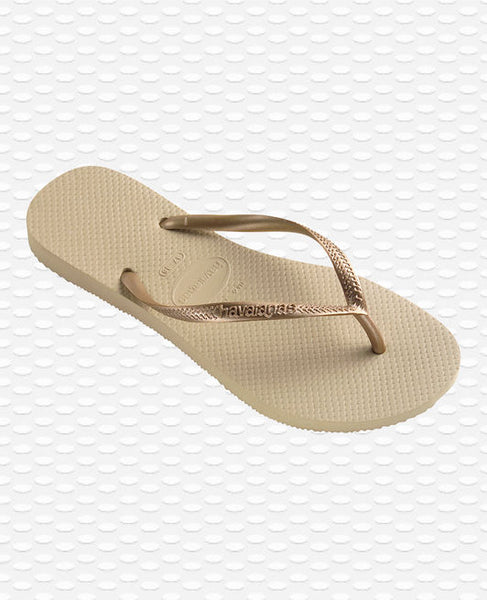 Havaianas Slim Flip Flops, Grey/Light Golden