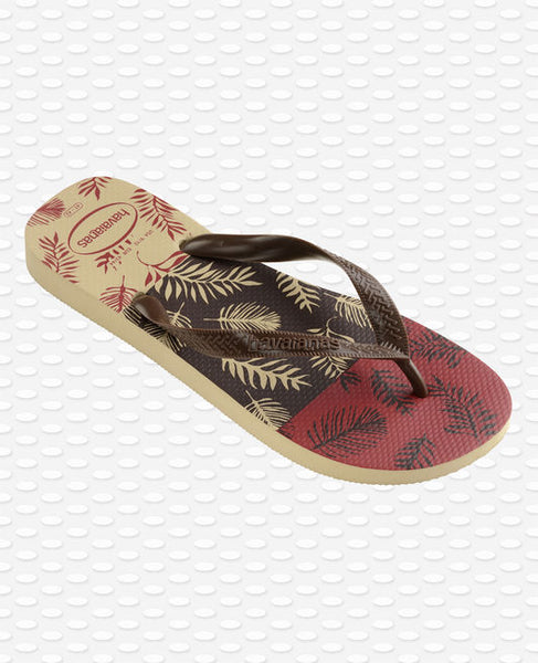 Havaianas Aloha Flip Flops, Grey/Brown/Black