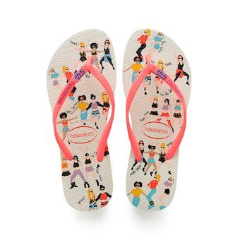 Havaianas - Slim Cool (White/Coral)
