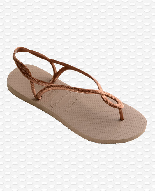 Havaianas Luna Sandals, Rose Gold