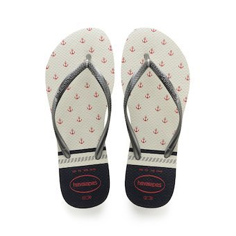 Havaianas - Slim Nautical (White/Graphite)
