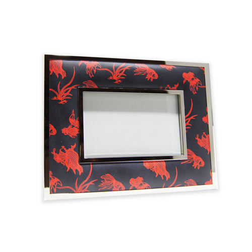 'Gold Fishes' 4R padded photo frame (reb/black)