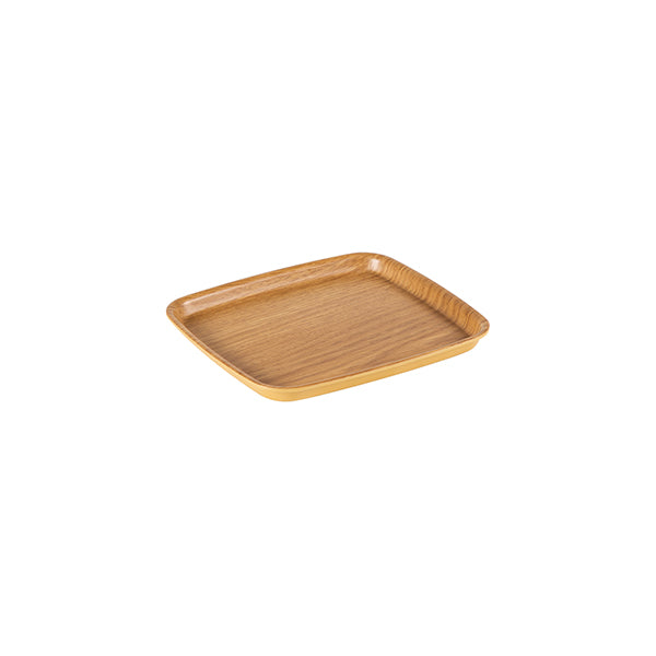 Zicco Square Bowl & Cover, Light Wood