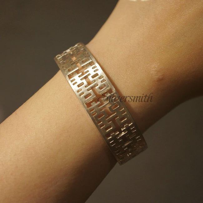 Double Happiness Bracelet by Silversmith