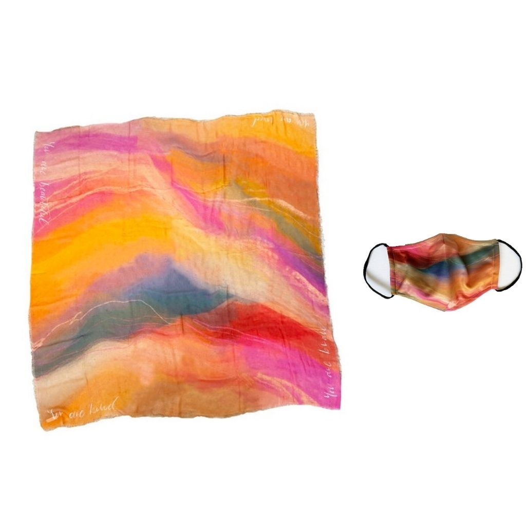 ESORA Scarf and Face Mask, You Are Beautiful & Brave & Strong & Kind