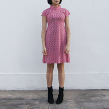 Load image into Gallery viewer, 'Yung Chung' Printed Qipao dress, Red Tiles