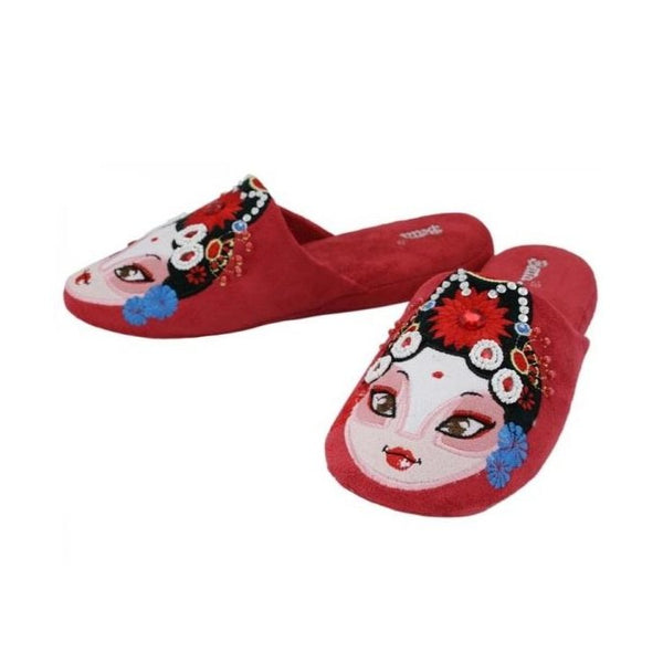 Betta 'Chinese Opera Woman' slippers (red)