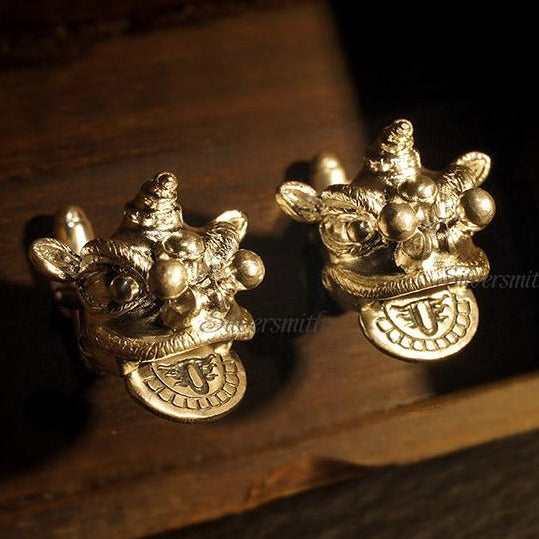 Lion Dance Cufflinks by Silversmith