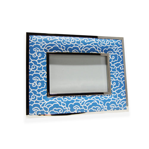 'Clouds' 4R padded photo frame (blue)