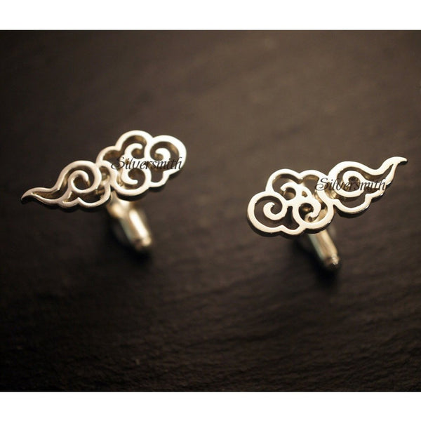 Clouds Cufflinks by Silversmith