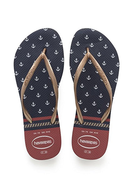 Havaianas - Slim Nautical (Navy/Red)