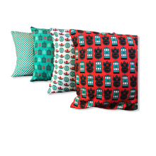 Load image into Gallery viewer, Liz Fry Design Cushion Cover, Tseng Kwan O Junk & Dim Sum Basket
