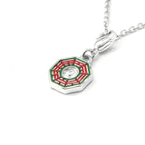 HK Charm with necklace - Eight Trigrams Mirror