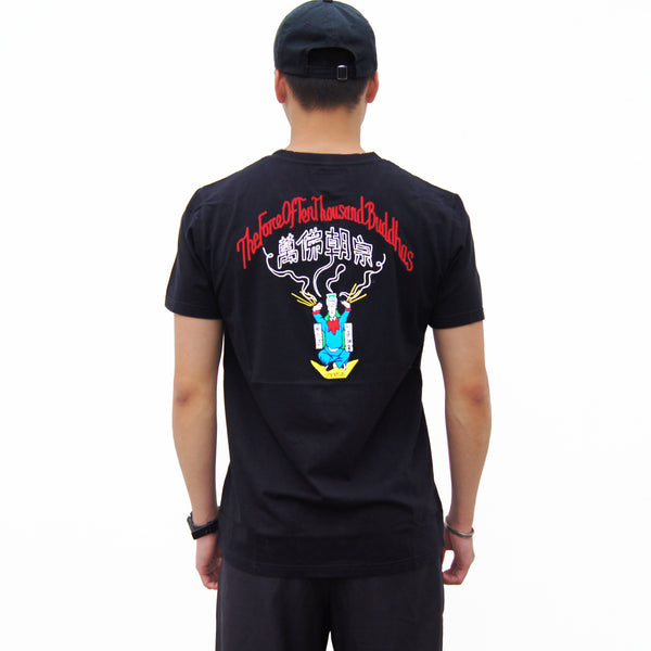 'The Force of Ten Thousands Buddhas' Tee, Black
