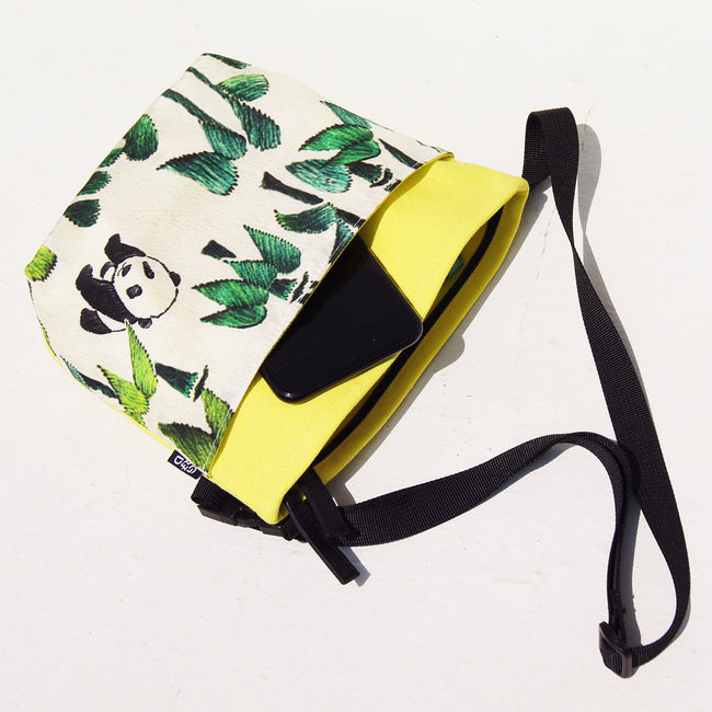 'Bamboo Panda' Two-way crossbody and waist bag
