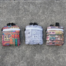 Load image into Gallery viewer, 'Newspaper' Foldable Backpack