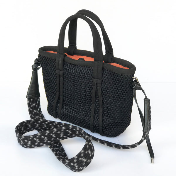 Amah Basket Mini Mesh Bag, Black