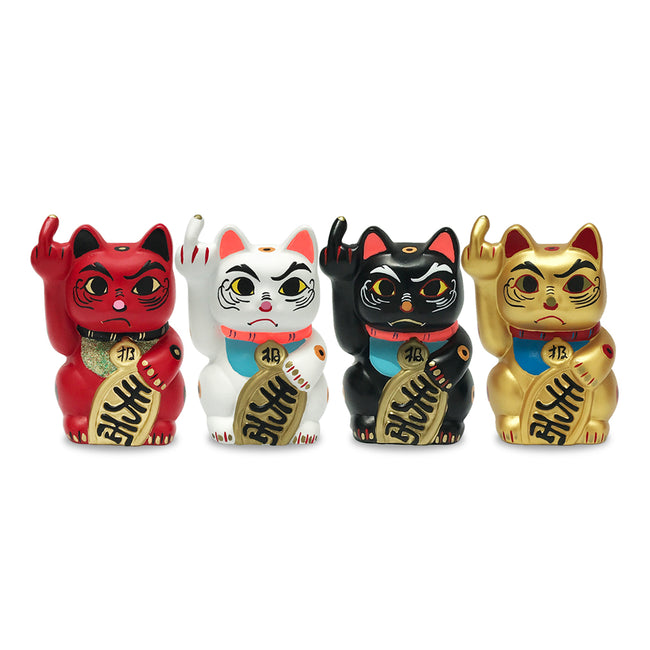 'Angry Cat' - Mini, Set of 4